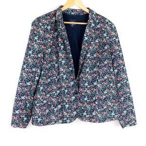 Gap Factory Floral Blazer Jacket Size 20